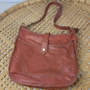 Frye Campus Purse in Burnt Red